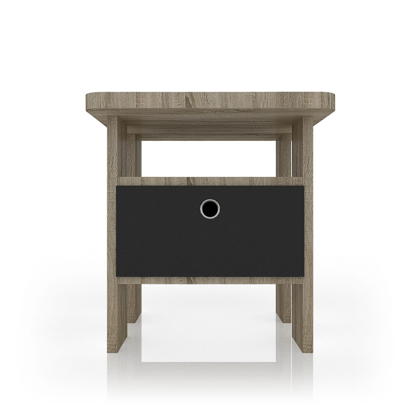 oak grey nightstand for bedroom interior
