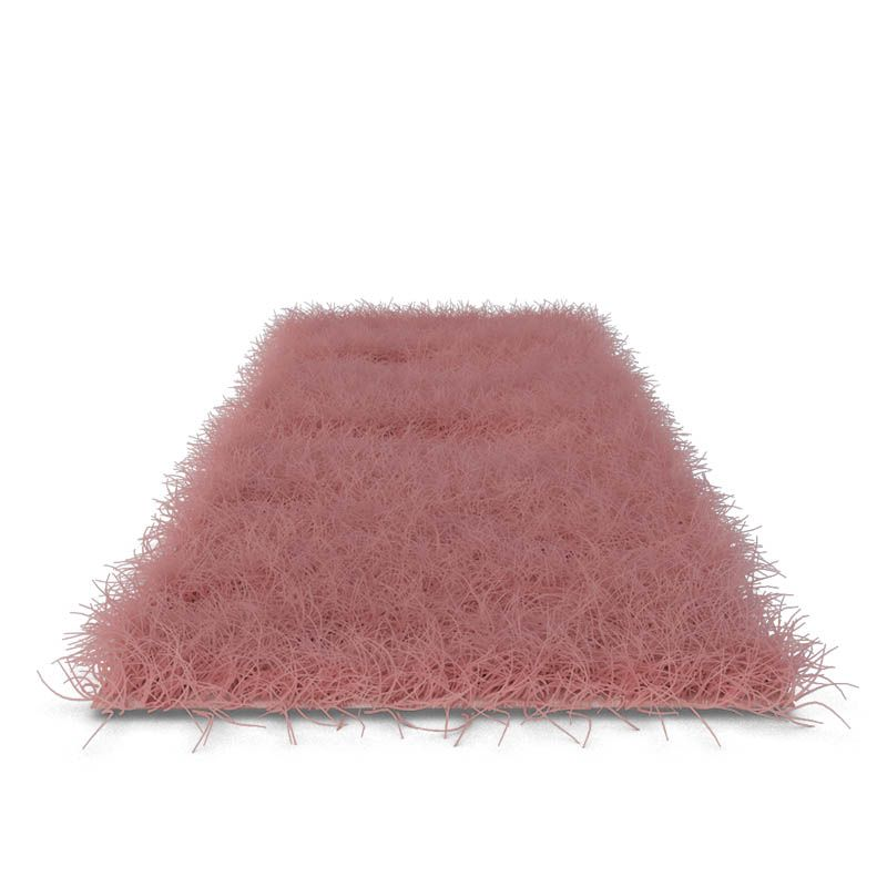 Faux Sheep Skin Pink Area Rug