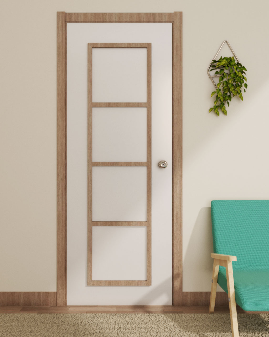 Decor Door using Wood Molding