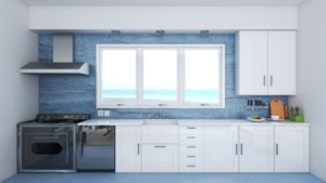 Blue and White Beach House Kitchen Ideas