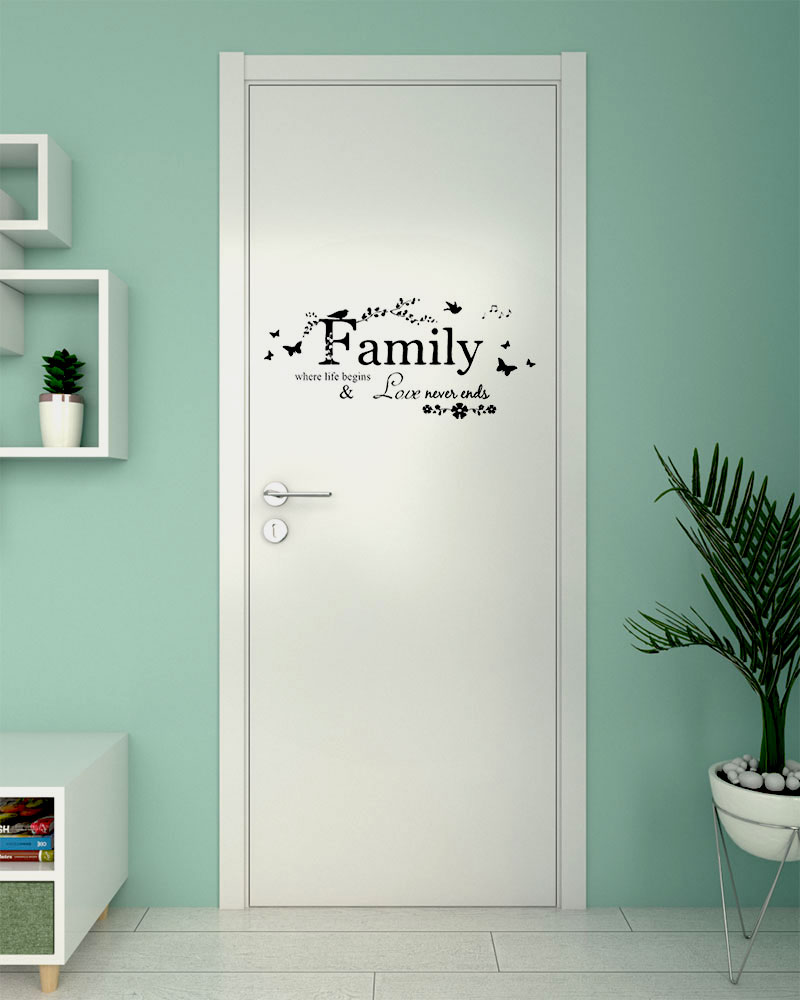 Cool Bedroom Door Decorations using Door Stickers