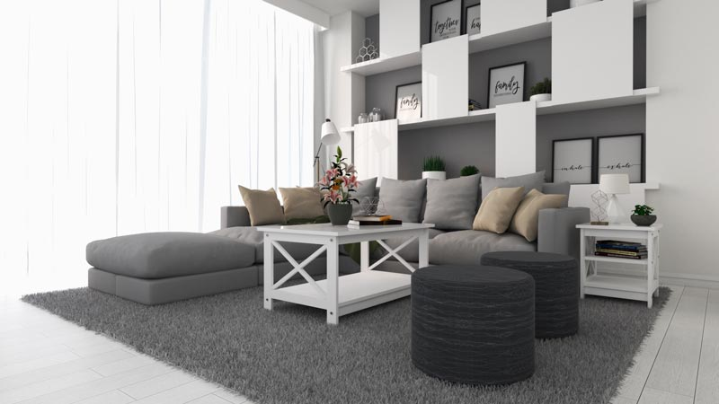 Charming Grey and White Living Room Ideas