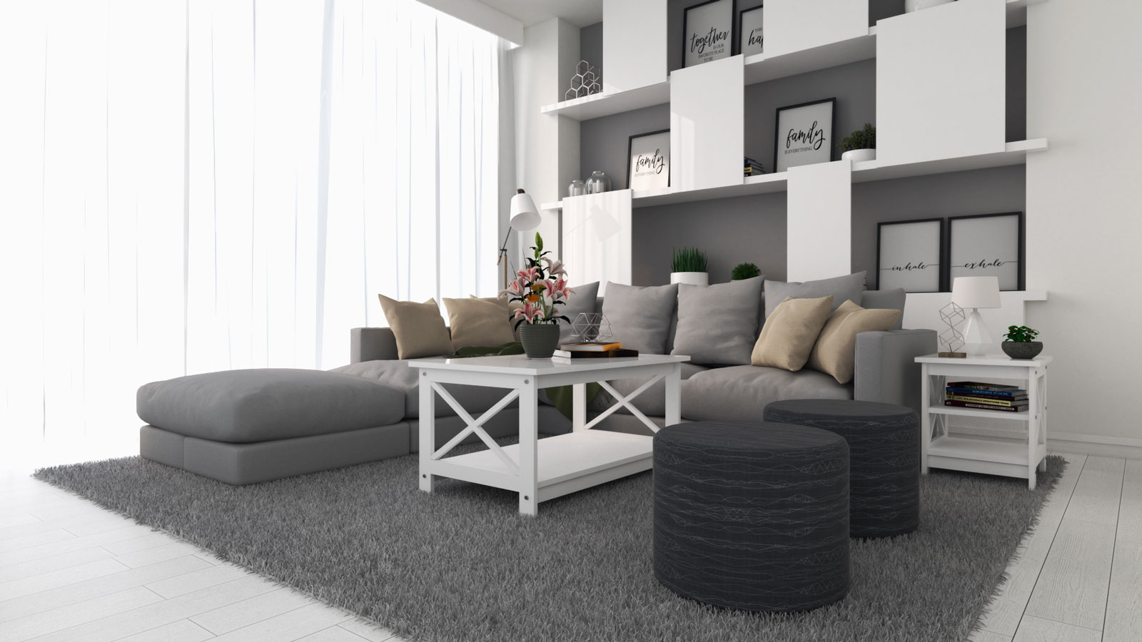 Charming Grey And White Living Room Ideas Roomdsign Com