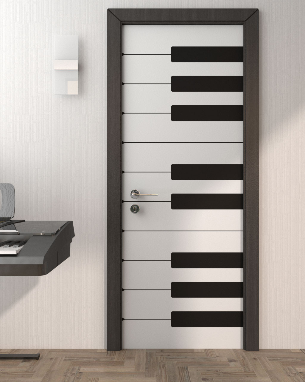Piano Style Door using Custom Door Stickers