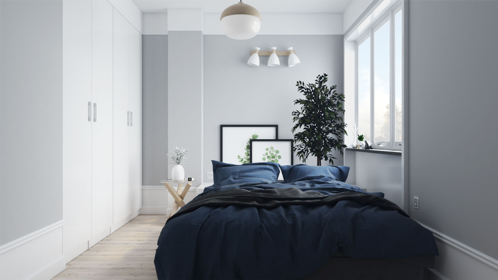 Small Scandinavian Bedroom Ideas