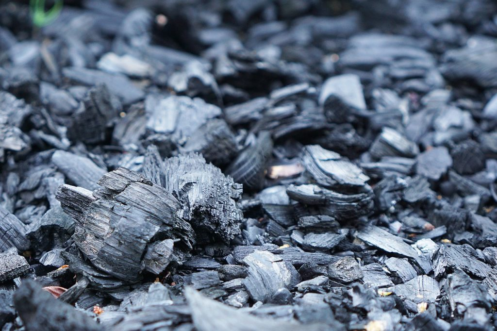 using charcoal briquettes to reduce humidity