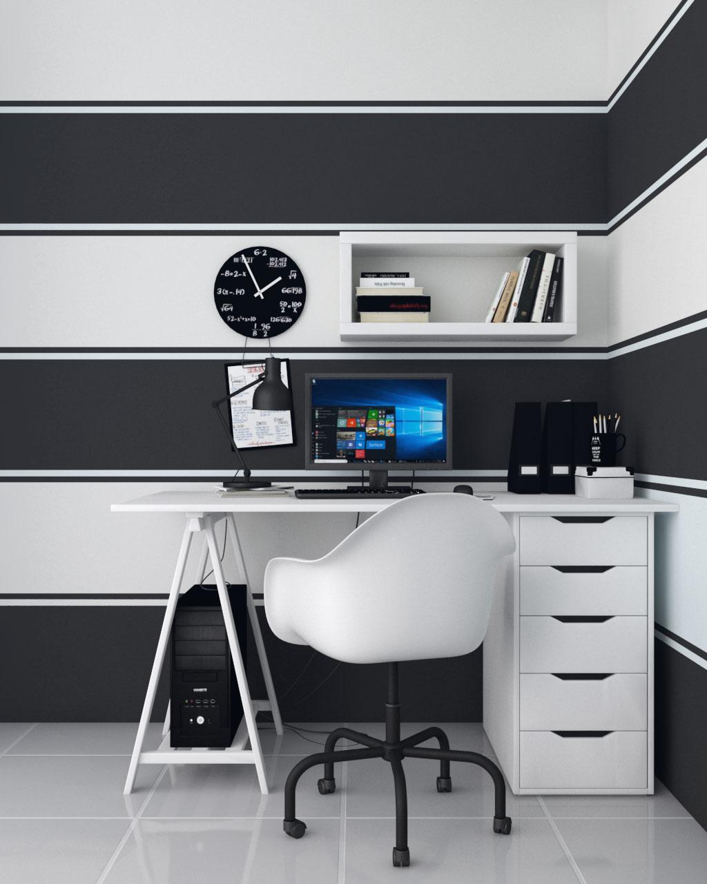 black and white horizontal wall paint ideas
