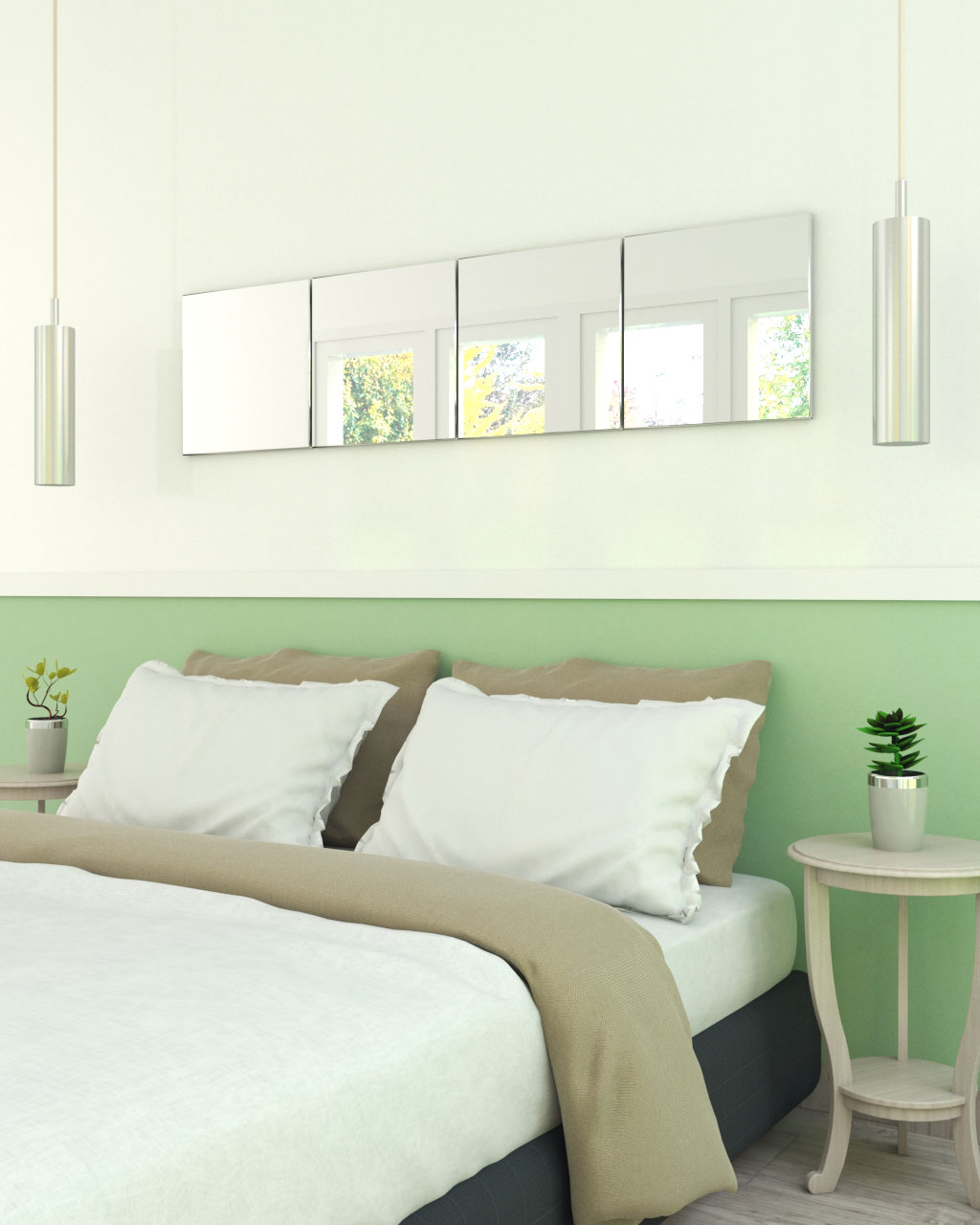 Simple rectangular mirror style for bedroom