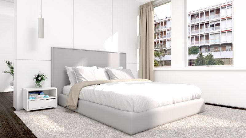 Monochromatic Modern Bedroom Design
