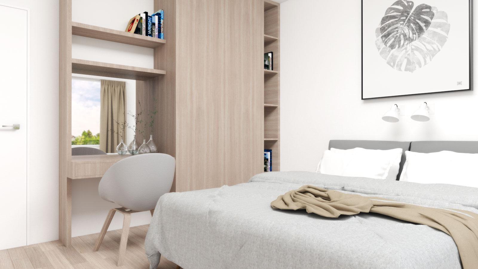 Simple Natural Scandinavian Bedroom