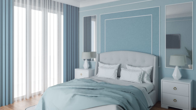 Classic Light Blue Bedroom