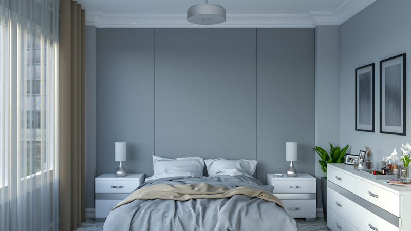 Glamour and Luxurious Silver Small Bedroom