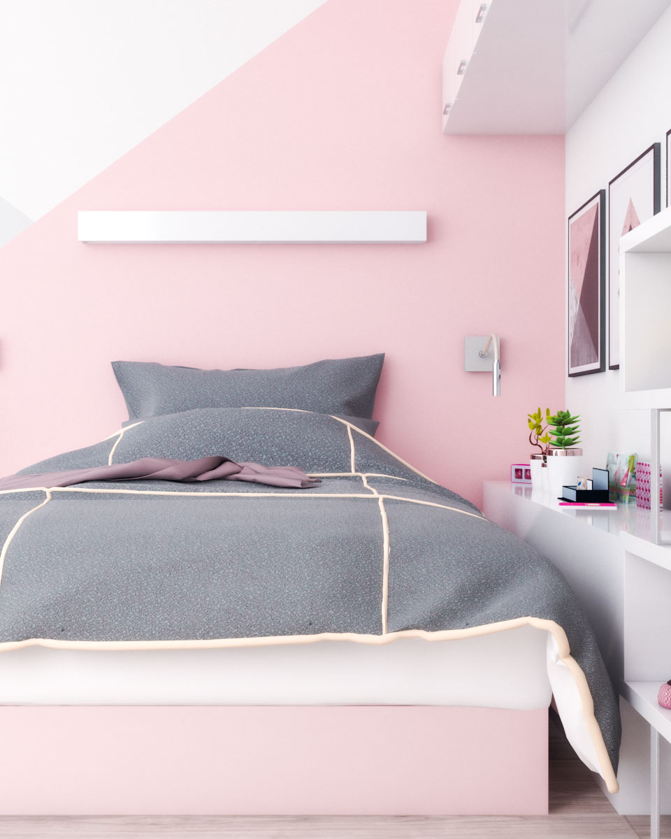 Pink and white small bedroom ideas