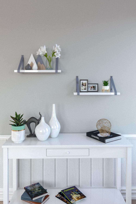 Simple scandinavian floating wall shelves