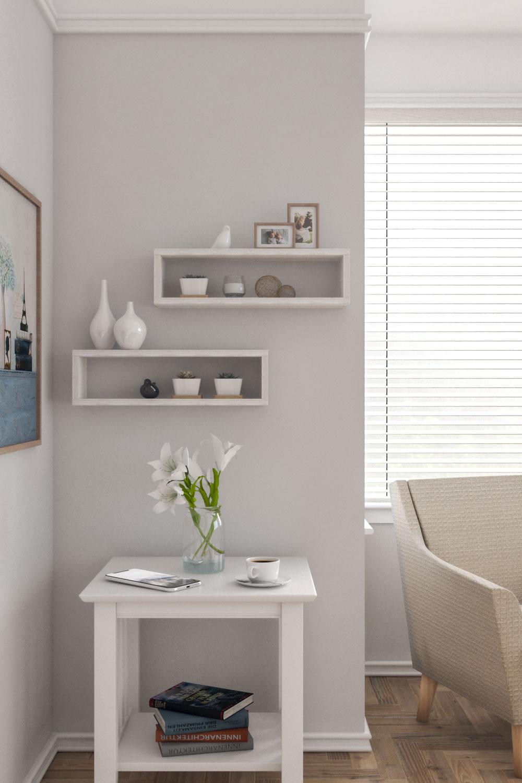 Vintage style floating shelves