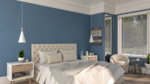 Classic Blue and White Bedroom Design