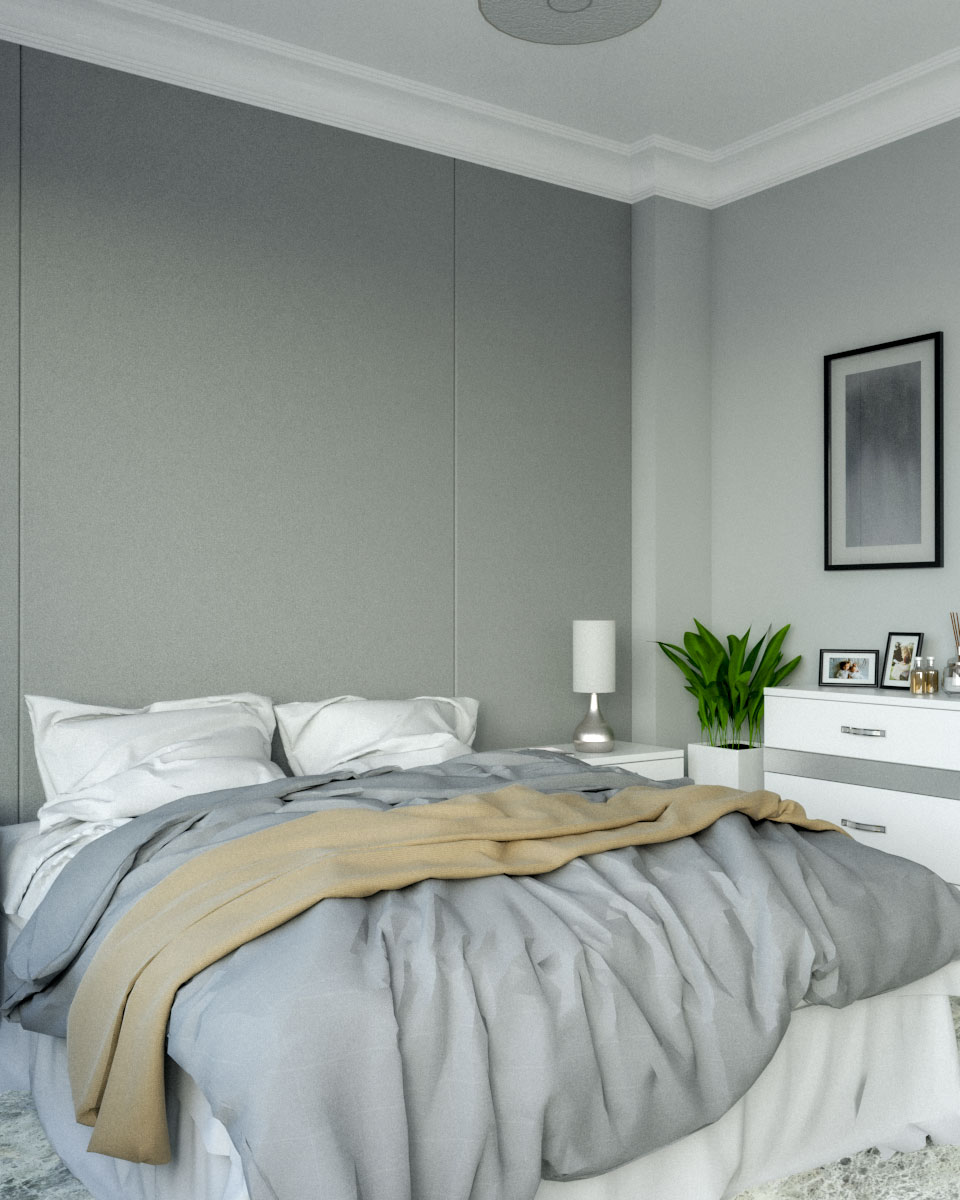 Luxury grey silver bedroom ideas