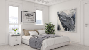 Minimalist Contemporary White Bedroom Design