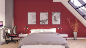 Cool Red Bedroom Design for Teenager