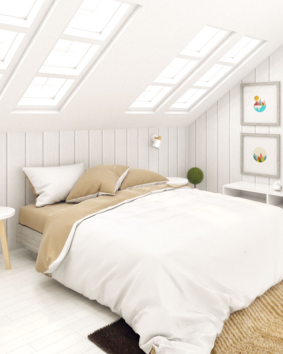 White Scandinavian Bedroom Design Ideas