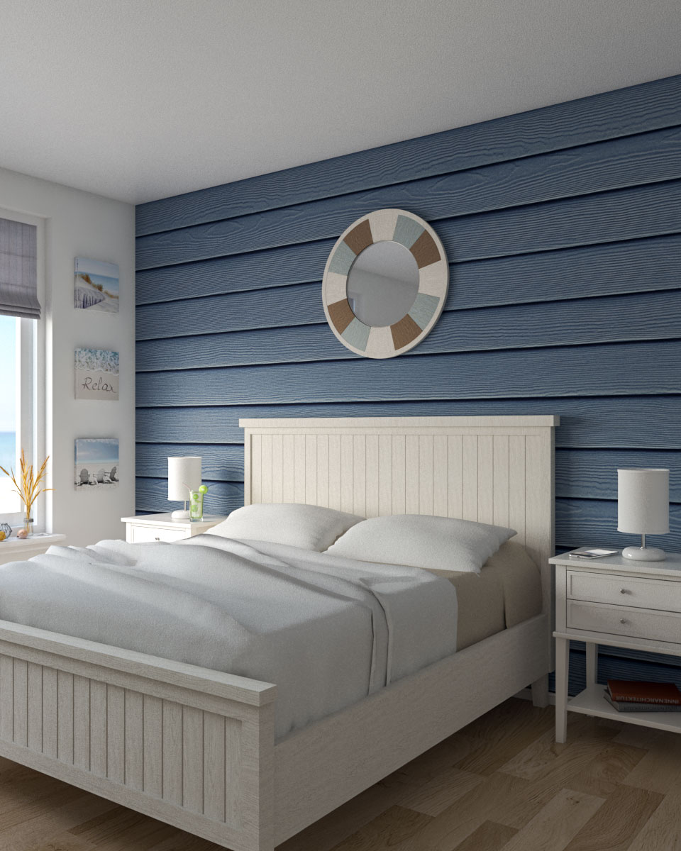 Blue coastal style bedroom ideas