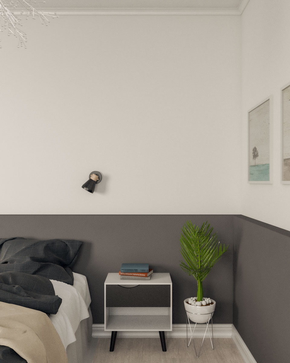 Dark gray and white paint ideas for bedroom