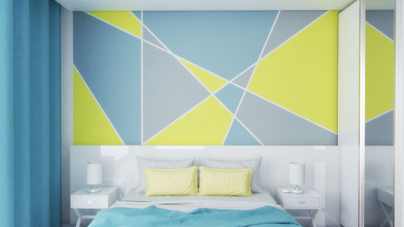 10 Creative Geometric Wall Paint Ideas