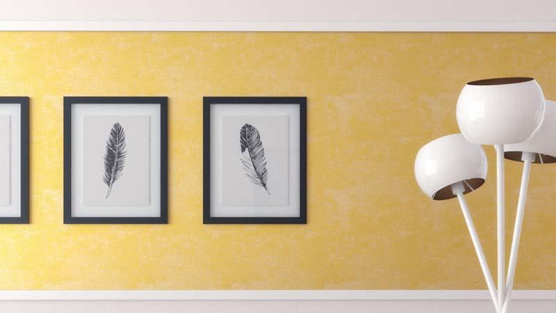 10 Beautiful and Glamorous Gold Wall Decor Ideas