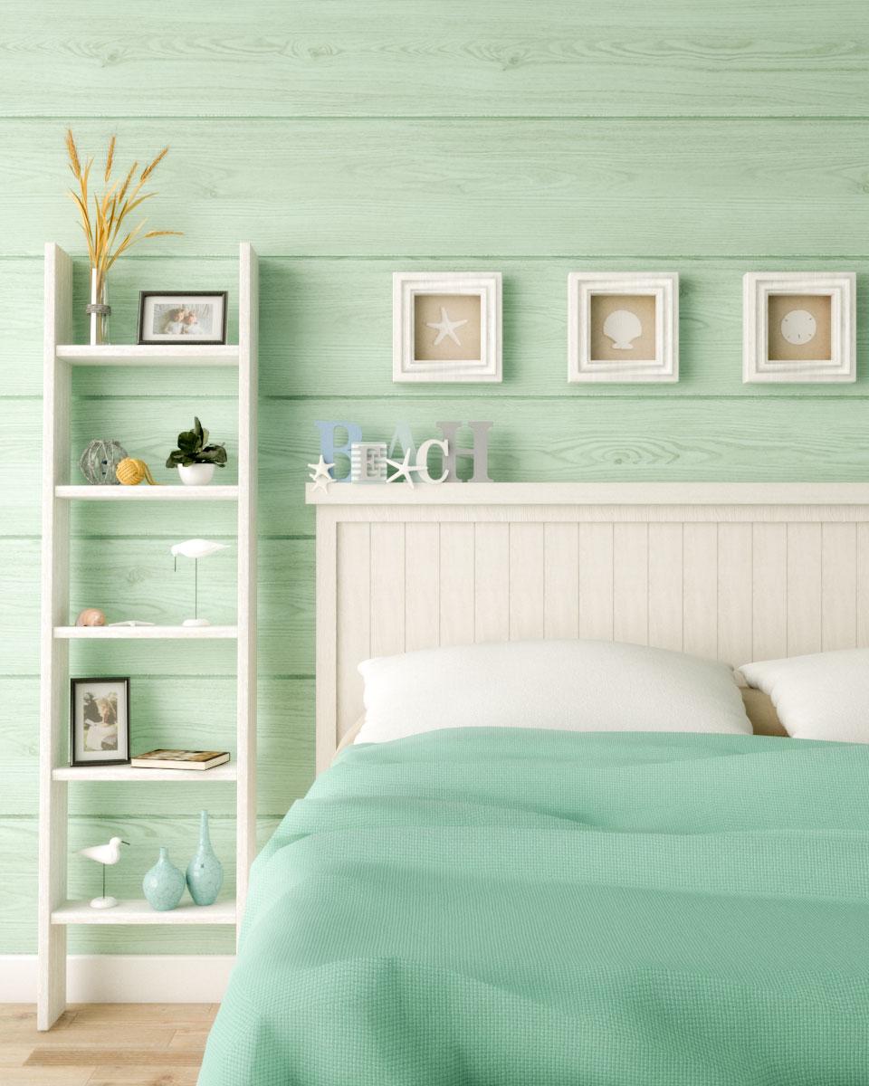 green beach style wall decor