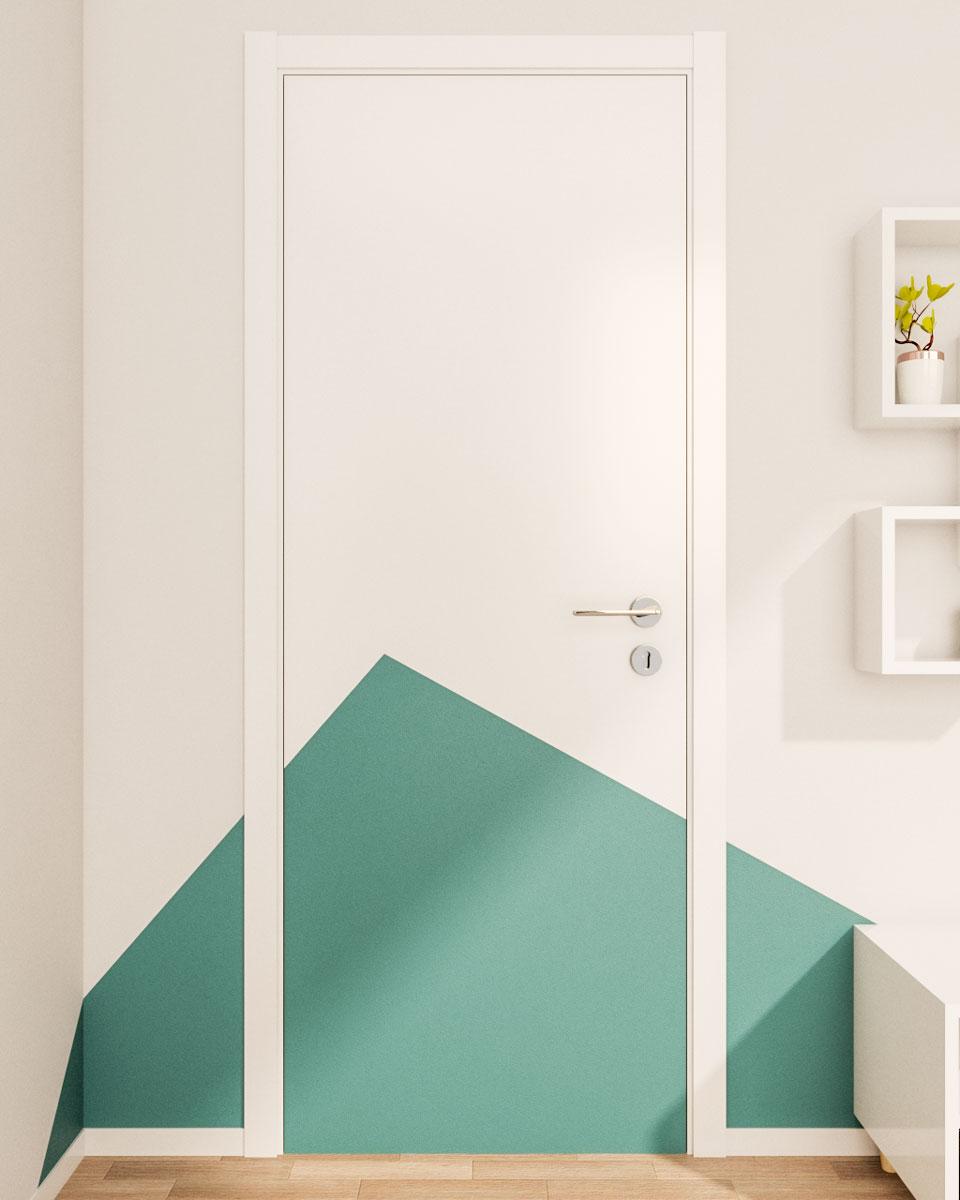 Creative flawless geometric wall paint ideas