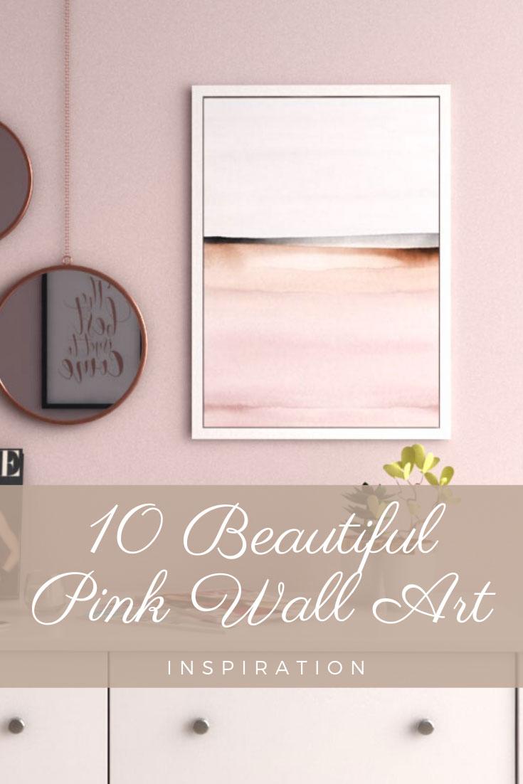 Beautiful pink wall art inspirations