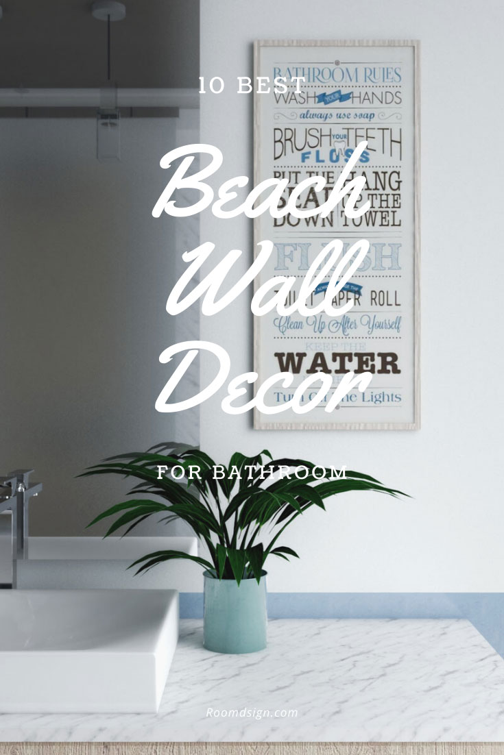 Best coastal wall decor for bathroom