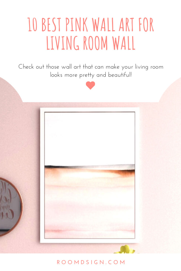 Best pink wall art for living room walls