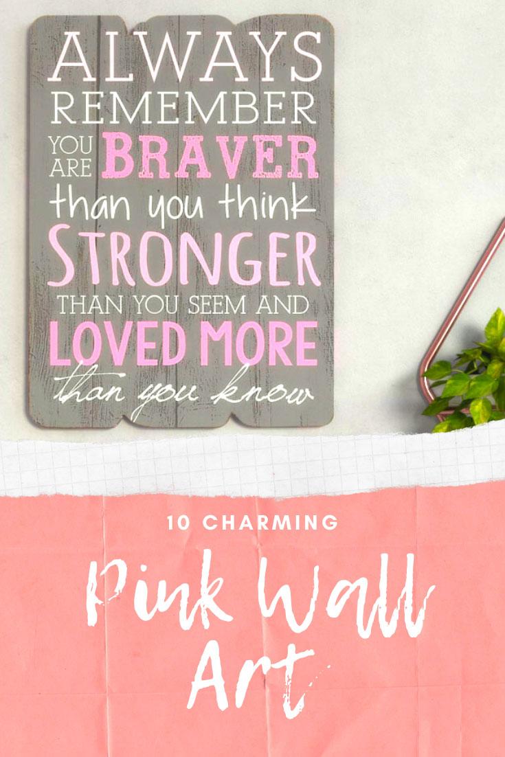 10 Charming pink wall art