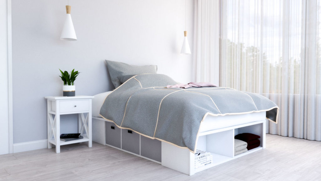 Platform storage bed that can help you declutter your bedroom