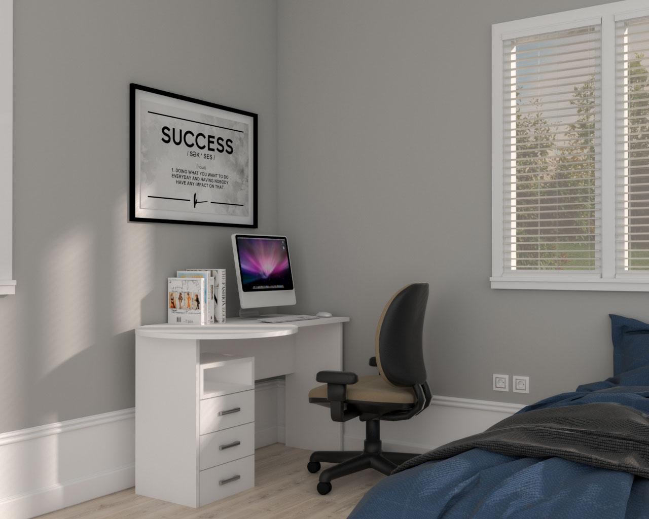 Bedroom holiday office corner