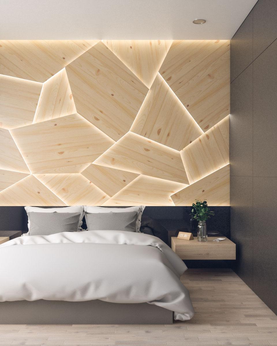 geometric style wood panel