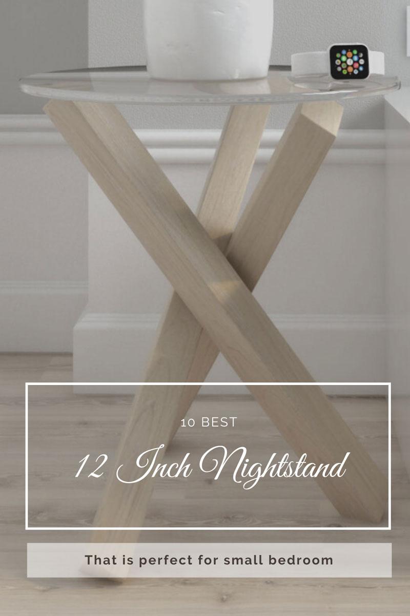 Best under 12 inch nightstand table
