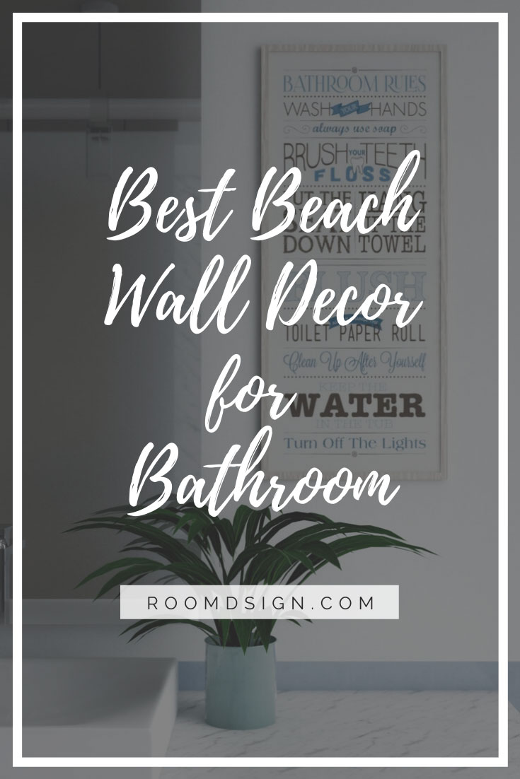 Best beach wall decor for bathroom