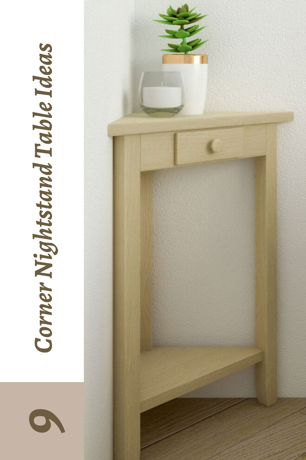 corner nightstand table ideas