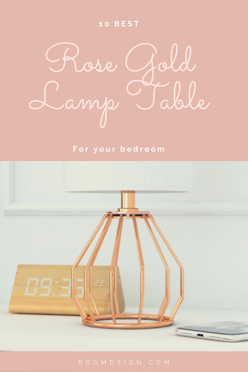 best stylish rose gold table lamp
