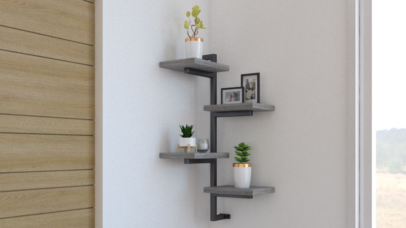 10 Rustic Corner Shelf Ideas