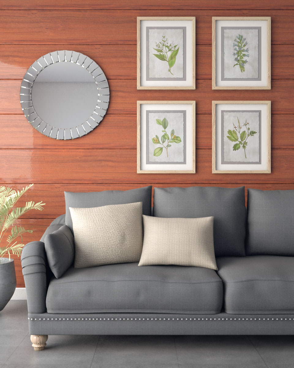 elegant dark wood accent wall for living room