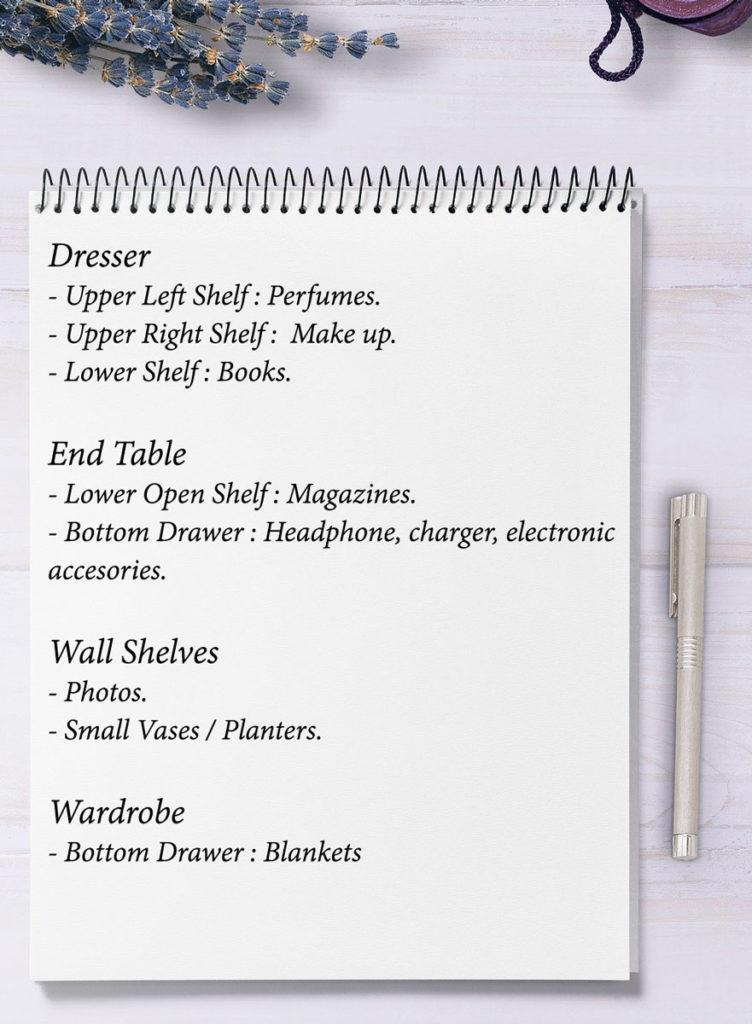 Planning to declutter your bedroom