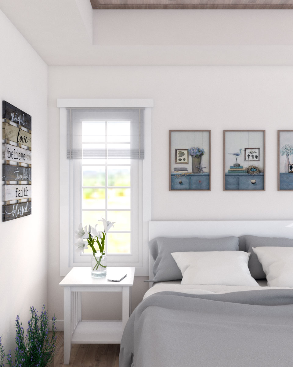 Beige farmhouse bedroom wall paint ideas