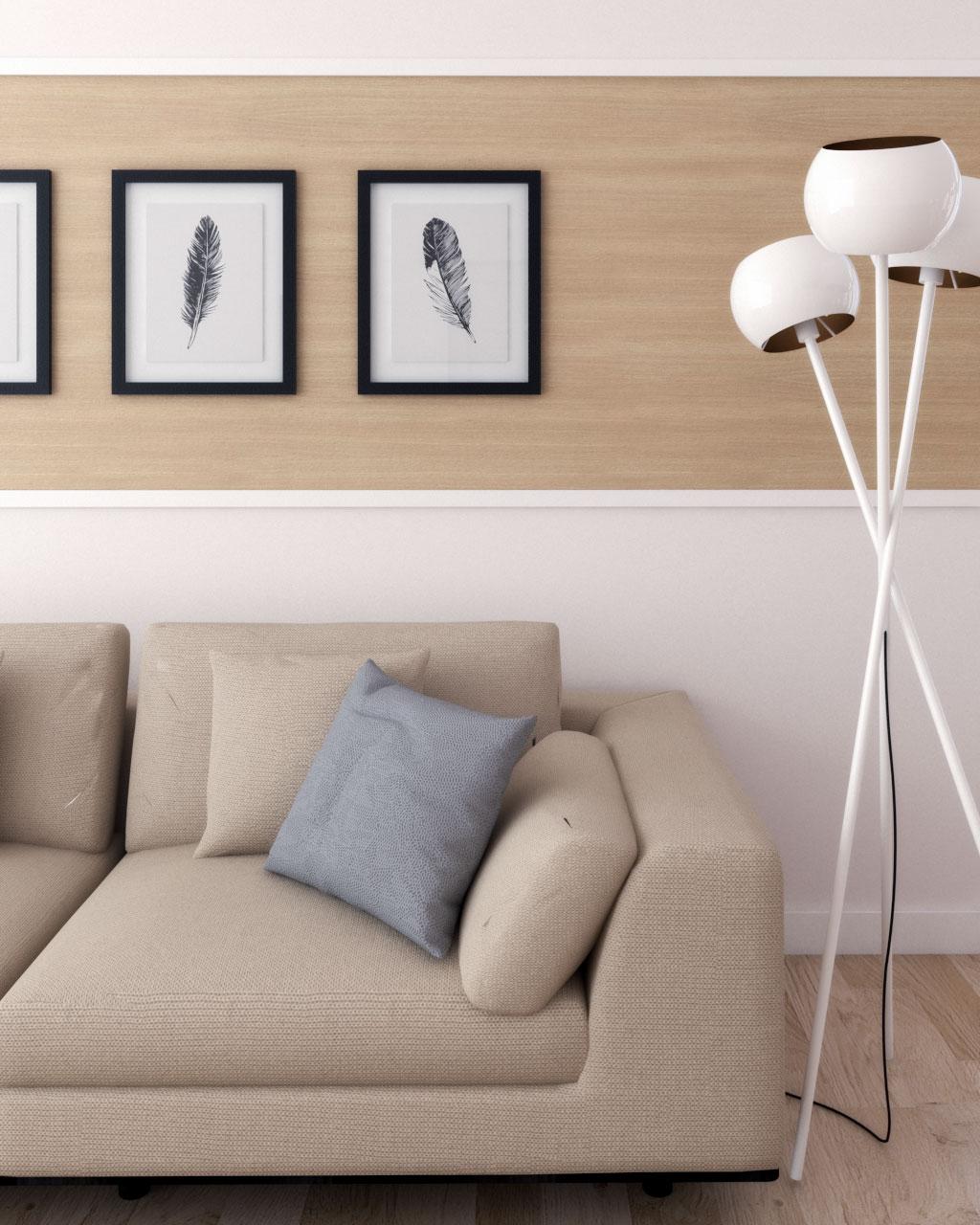 horizontal wood panel for wall