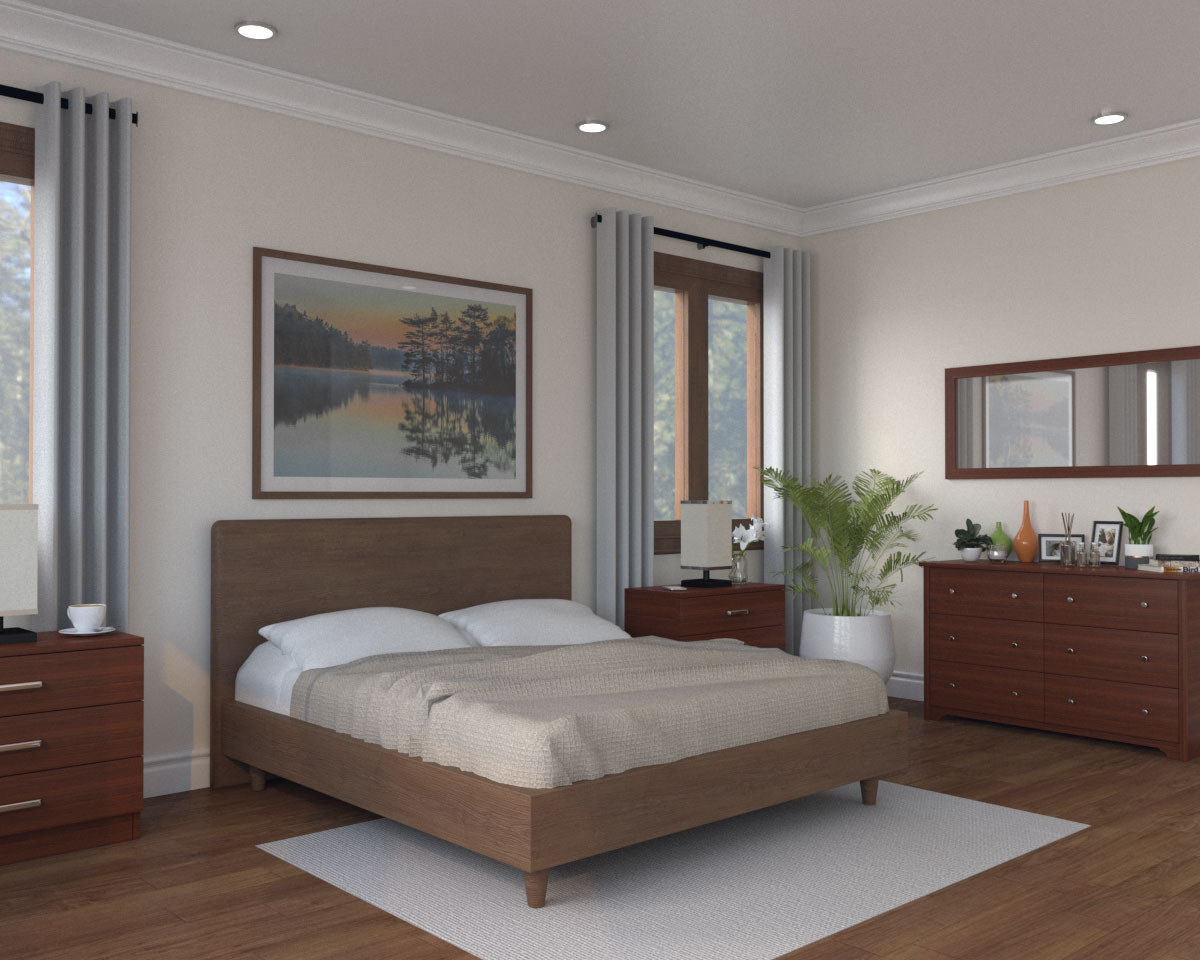 Picture of: 7 Best Wall Paint Colors For Bedroom With Dark Furniture With Images Roomdsign Com