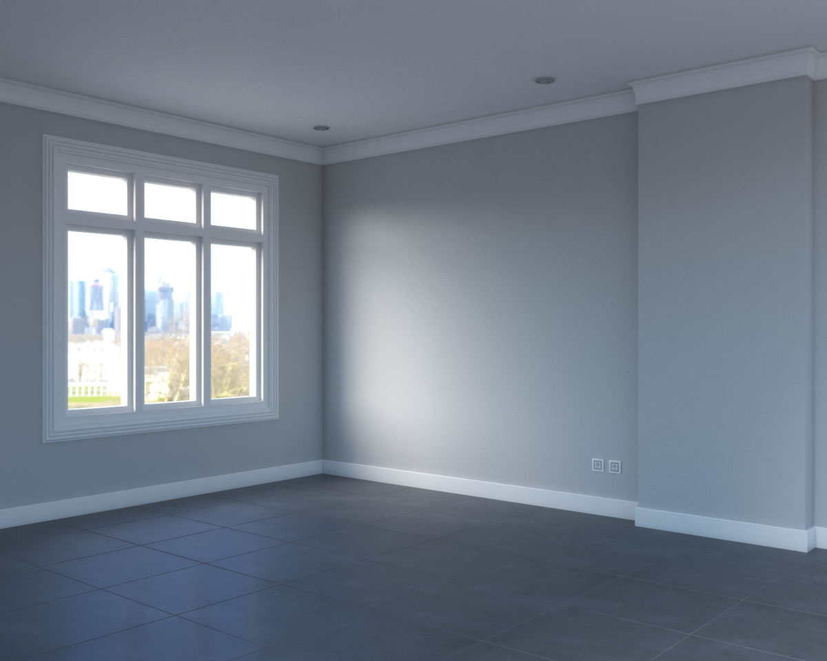 gray stone floors with gray walls