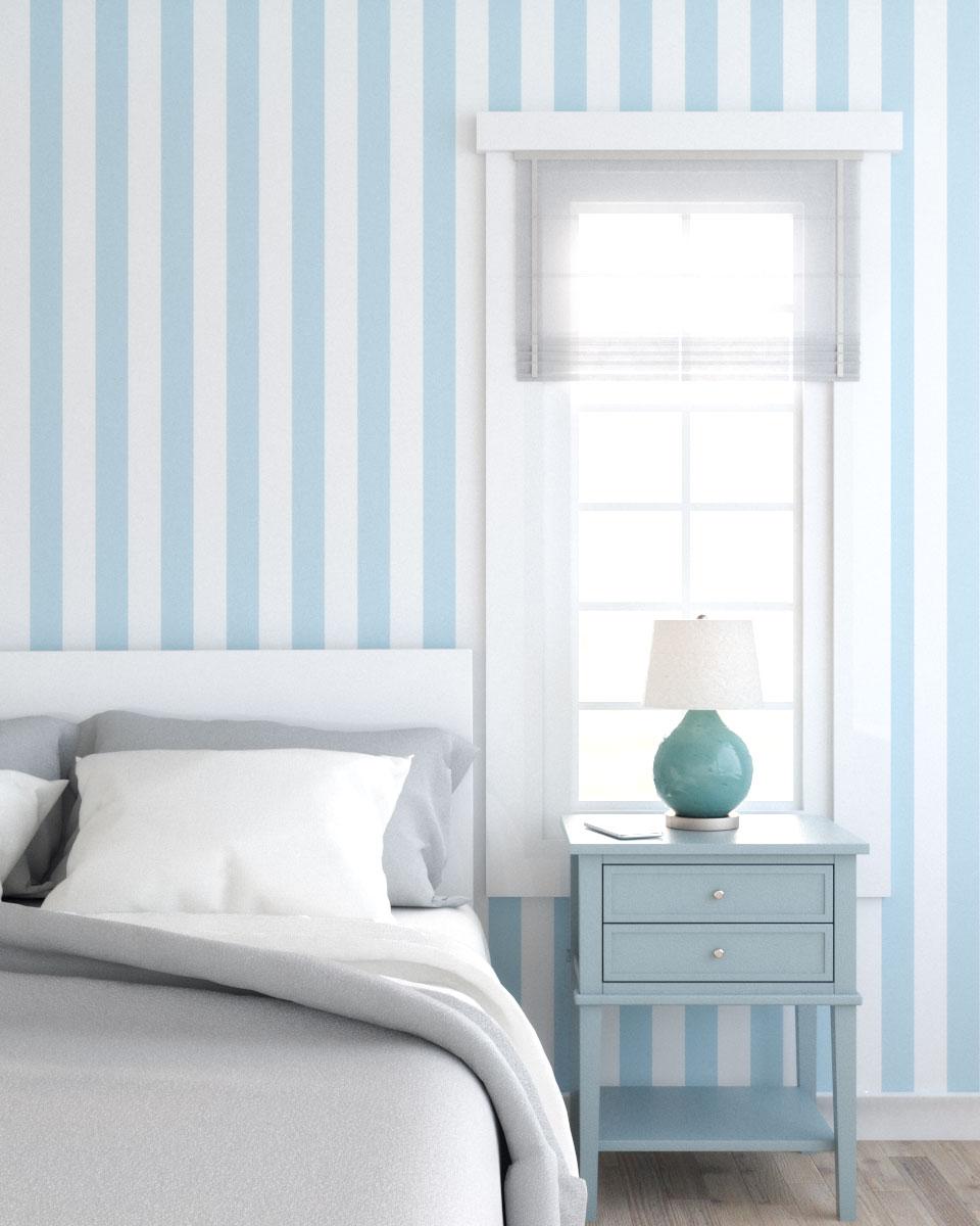 Simple vintage style blue wallpaper