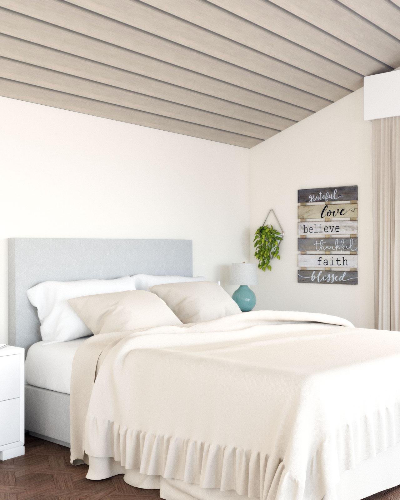 Vintage beige bedroom wall paint ideas